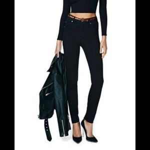 Nasty Gal High Waist Black skinny jeans inseam 30